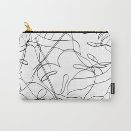 Botanical Black Carry-All Pouch