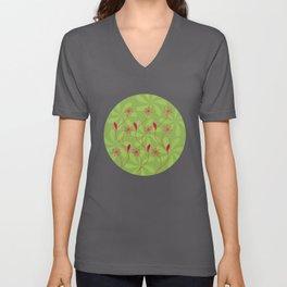Flowerline – green Unisex V-Neck