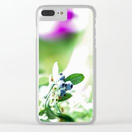 Blueberry Delight Clear iPhone Case