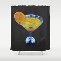 martini Shower Curtains featuring Sunset Martini by Shawn Stomp