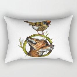 Little Fox & Firecrest Rectangular Pillow