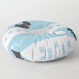 Scotties Pattern Floor Pillow