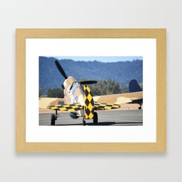P-40 Taxiing Framed Art Print