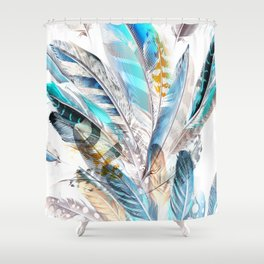 Cosmic Feathers Shower Curtain