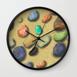 Pebbles beach Wall Clock