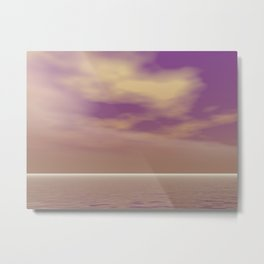 Softly purple Metal Print