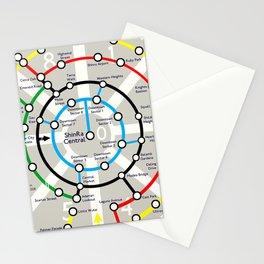 Final Fantasy VII - Midgar Mass Transit System Map Stationery Cards