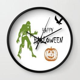 Happy Halloween Art Wall Clock