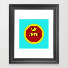 Nerds Rule Framed Art Print