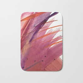 Tigerlily: a vibrant, colorful, watercolor piece in pink, purple, orange, and reds Bath Mat