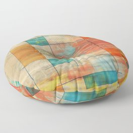 Mid-Century Modern Art 5.0 - Mirror Graffiti Floor Pillow