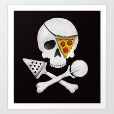 Pizza Raider Art Print