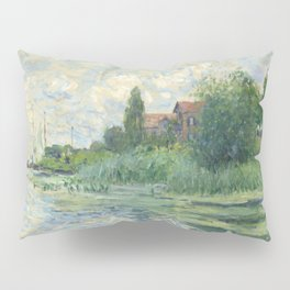 "Claude Monet ""Les bords de la Seine au Petit-Gennevilliers"" Pillow Sham"