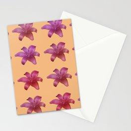 Elegant Lily Collage Stationery Cards
