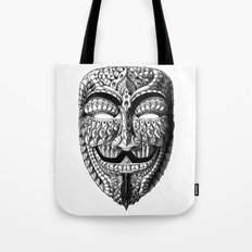 Ornate Anonymous Mask Tote Bag