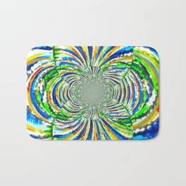 Kaleidoscope Graffiti Stripes  Bath Mat