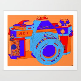 Camera Snap Art Print