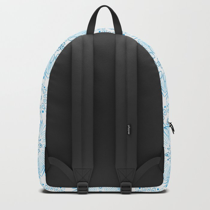 Winter . White and blue Backpack