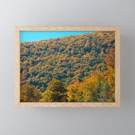 Fall in Franconia Notch State Park. New Hampshire. USA. Framed Mini Art Print
