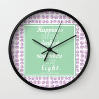 dumbledore Wall Clocks featuring Dumbledore Quote by KellieLynnCreations