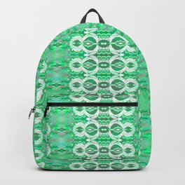 Glowing Resonant Boho Psychedelic Goth Romantic Green Lace Backpack