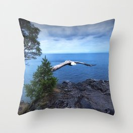 Eagle at Lighthouse Park Throw Pillow