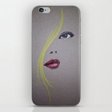 Blond Nose Eyes Lips iPhone & iPod Skin