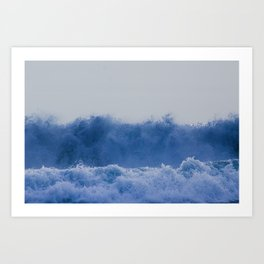 Blue Sea Wave Art Print