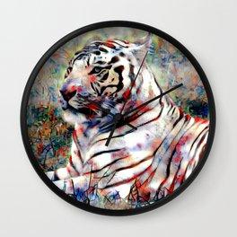 vibrant tiger Wall Clock