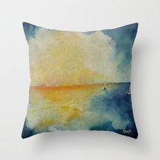 Distant Oceans Throw Pillow
