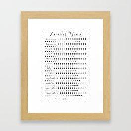 Lunar Year 2016 Framed Art Print