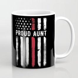 Thin Red Line Aunt Firefighter Niece Nephew Coffee Mug