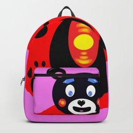 Japan bear mascot pink Backpack