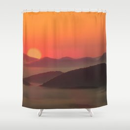 Sunrise Over Blue Ridge Mountains Shower Curtain