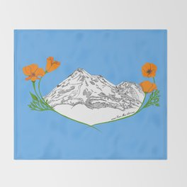 Shasta Poppies - Pop of Color Throw Blanket