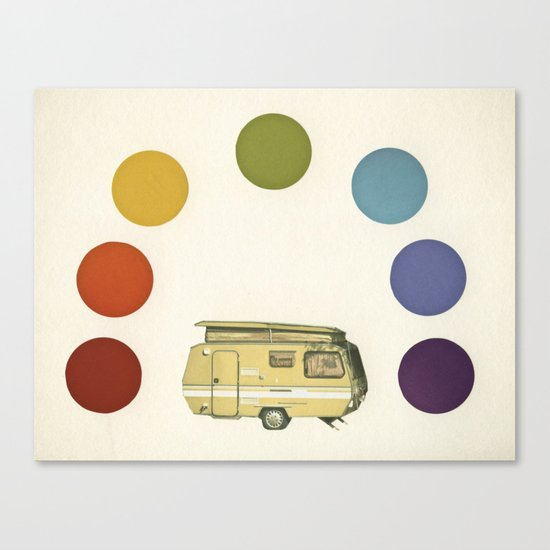 We Camped Beneath a Rainbow Canvas Print