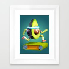 Running Avocado Framed Art Print