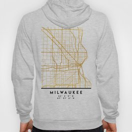 MILWAUKEE WISCONSIN CITY STREET MAP ART Hoody