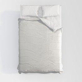 Realistic White Crocodile Skin Print Comforters