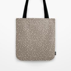 PolkaDots-Peach on Taupe Tote Bag