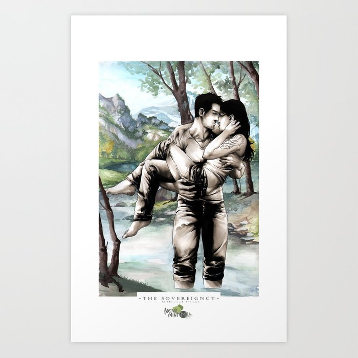 Wading Through Art Print