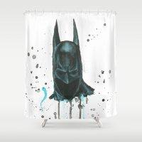 bat man Shower Curtains featuring Bat man by McCoy