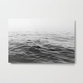 Black and White Ocean Metal Print