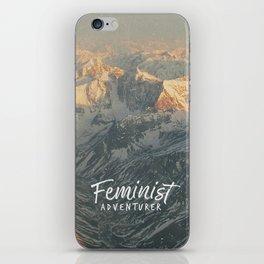Feminist Adventurer iPhone Skin
