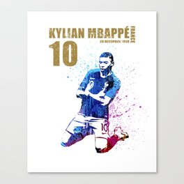 World cup 2018 - france 10 gold Canvas Print