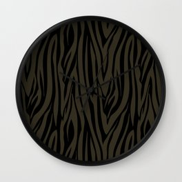 Sophisticated Black and Grey Zebra Print Pattern Wall Clock