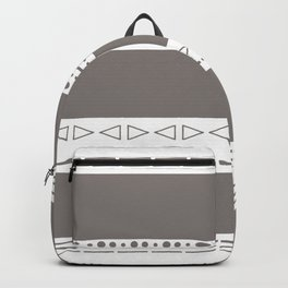 Bohemian grey&white monochromatic neutral pattern Backpack