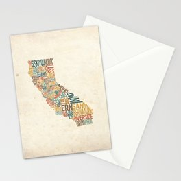 California by County Stationery Cards