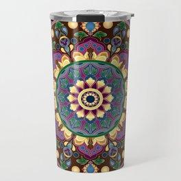 Vintage Floral Mandala Travel Mug