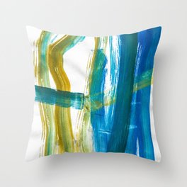 Cohesion Energy Lightroom Watercolor Throw Pillow